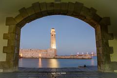 Lighthouse at old harbour,Rethymno. (Imaginarium 2.1) Tags: lighthouse oldharbour port rethymno longexposure crete greece bvs bazilvansinner liveyourmythingreece nikon frame framing