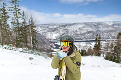 Snowboarding break (Newfoundland and Labrador Tourism) Tags: western winter snow snowboard board snowboarding boarding snowboarder boarder marble mountain hill top view