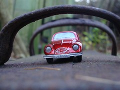 Under the Bridge (captain_joe) Tags: toy car 365toyproject matchbox lesney diecast spielzeug auto vw volkswagen beetle käfer