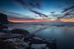 Bangalley Sunrise (RoosterMan64) Tags: australia bangalleyheadland clouds leefilters longexposure nsw northernbeaches rockshelf seascape sunrise sydney landscape