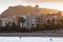 Hola! Barcelona (fru.gru) Tags: barcelona barceloneta golden hour beach sunset sun spain espana cataluna