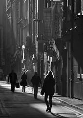 Manchester Night 001 (Colin Nicholson) Tags: manchester uk england mononchrome night street december