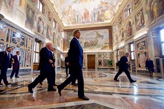 Secretary Kerry Walks Through the Vatican After Meeting With Pope Francis (U.S. Department of State) Tags: johnkerry vatican vaticancity popefrancis