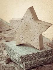 selbstgemacht ... (gartenzaun2009) Tags: winter stern beton diy star