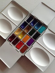 New Paint Box (noriko.stardust) Tags: watercolour watercolor paintbox paint box roberson style littlebrassboxcompany craigyoung sketch painting kit blogger sketchbook