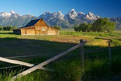 Mormon Barn in the Morning (ClintonKemp) Tags: morning barn grandteton mormonbarn