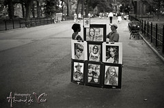 Caricatures (ASdeVera) Tags: park nyc artist pentax central d76 caricature spotmatic tmax400 sp1000
