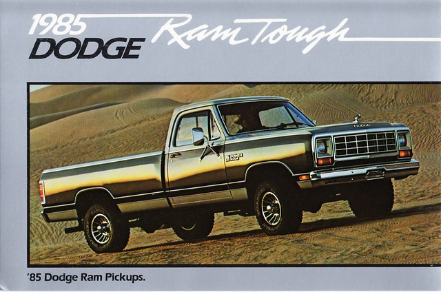 postcard pickup dodge ram 1985