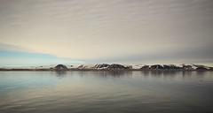 The Hinlopen Strait (Derbyshire Harrier) Tags: mountain snow reflection glacier svalbard arctic cropped spitsbergen ortelius naturetrek 2013 higharctic hinlopenstrait