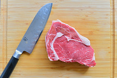 DSC_1491 (Honor Photo Bar) Tags: food dinner beef fat steak fatty serving cuttingboard redmeat ribeye d600 35mmf2d