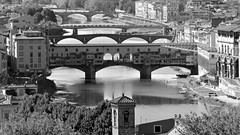 Florence, view from the Piazale Michelangelo (marek&anna) Tags: italy florence bridges arno pontevecchio