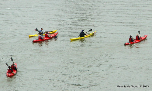 Canoeists in the Thames