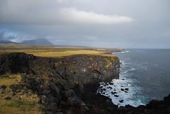 More Cliffs and Lowering Skies (Dick Dangerous) Tags: sea sky rain clouds iceland cliffs peninsula lowering snaefellsnes hellnar arnastapi