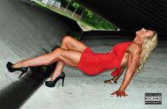 Lady in red! (Alfonso Aguirre Rocking Photography) Tags: beautiful muscles muscle muscular bodybuilding bodybuilder fitness gym fit muscled musculos fbb musculosa femuscle