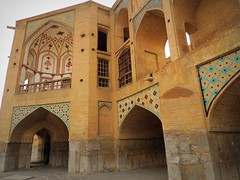 Khaju brick bridge of Isfahan (German Vogel) Tags: travel bridge brick tourism architecture asia arch iran middleeast engineering journey majestic isfahan safavid 165 intricacy islamicrepublic westasia khaju khajubridge gettyimagesmiddleeast