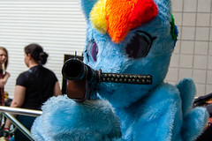 DSC_0058 (Gavin Clinton) Tags: london costume rainbow october comic expo little cosplay pony dash convention comiccon con mlp mcm fursuit 2013 my