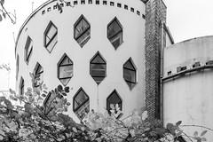 936 (-5Nap-) Tags: city blackandwhite house architecture fuji moscow soviet fujifilm residence bnw avantgarde constructivism    melnikov  sovarch    fujix100s x100s fujifilmx100s