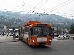 12-09-05 Sarajevo Skenderija Obus 4142 (tramfan239) Tags: sarajevo trolleybus solingen obus skenderija