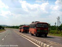 MSRTC  Train (Gourav Shinde 94) Tags: buses train mumbai pune beed hirkani msrtc parivartan ahamadnagar flickrandroidapp:filter=none