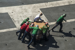 Sailors prepare to distribute water. (Official U.S. Navy Imagery) Tags: heritage america liberty freedom commerce unitedstates military navy sailors fast worldwide tradition gw usnavy carrier protect deployed flexible philippinesea onwatch beready ussgeorgewashingtoncvn73 defendfreedom cvn73 ussgeorgewashington warfighters nmcs chinfo sealanes warfighting preservepeace deteraggression operateforward warfightingfirst navymediacontentservice