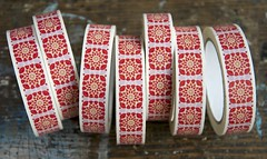 Granny Square deco tape (namolio) Tags: christmas red grannysquare decotape decorativetape namolio