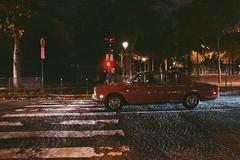 Cobbles in Paris (_rosscooke_) Tags: road street camera roof red white black paris france colour tower love car canon vintage jack photography lights movement crossing traffic union arc eiffel retro capture cobbles markings
