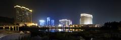 Macau Taipa  - View of hotels in Cotai  (Kwong Yee Cheng) Tags: autostitch macau  taipa