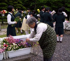 "Japan: S. Mary Nicholas Inoue prepares flowers for May crowning at • <a style=""font-size:0.8em;"" href=""http://www.flickr.com/photos/109980257@N03/11208153946/"" target=""_blank"">View on Flickr</a>"