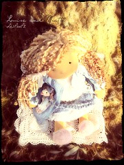 Listening to the song of the falling leaves. (Les PouPZ) Tags: yak art love wool les vintage de toys tricot clothing knitting ribbons doll dolls natural handmade linen lace embroidery buttons unique ooak crochet waldorf collection yarn fabric cotton mohair romantic chic etsy lin trapo rag doily materials puppen laine steiner dukker shabby poupe muneca appliqu broderie vetements faitmain napperon dollectable poupeedechiffon stoffepuppen poupz