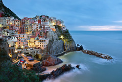 Manarola Blues (Worlds In Focus) Tags: travel blue sea seascape landscape landscapes europe italia unesco terre cinqueterre