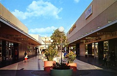 Buena Park Mall CA (Edge and corner wear) Tags: world party house shop retail vintage mall shopping toy store pc candy sewing postcard fabric chrome singer hosiery machines storefronts department parklane pennys barricini