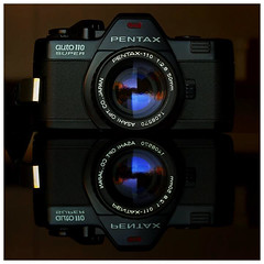 20857119 (ac | photo) Tags: camera reflection film blackbackground vintage studio pentax 110 commercial filmcamera product pentaxauto110 110format tabletopphotography