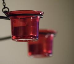 Candelier (Guruinn) Tags: red december desember rautt candelier rauður 2013 kertastjaki rauð ljósakróna
