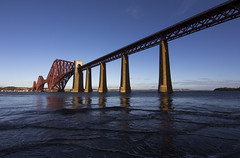 Forth Bridge (DerickCarss) Tags: road uk bridge winter scotland crossing fife south north bridges rail railway forth lothian firth firthofforth queensferry cantilever