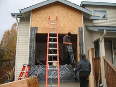 Bay Window Addition - During