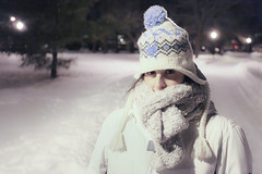 Bundle Up! (Tim Drivas) Tags: park newyorkcity winter portrait snow cold girl weather person snowstorm queens bundledup junipervalleypark