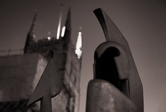 Guard Duty . . . . (Stevie378) Tags: sculpture london monochrome sepia night mono cathedral roman southbank tiff southwark londonislovinit