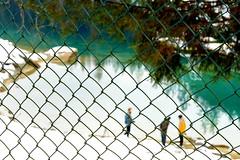 Caumasee (balu51) Tags: schnee winter people lake snow green water fence reflections switzerland fotograf leute photographer teal 60mm grün zaun wald emerald flims januar winterlandscape darkgreen 2014 hff graubünden caumasee d365 copyrightbybalu51