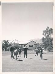 Campo de Golf. Jugando al golf