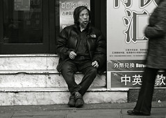 The Forgotten (Becky Frances) Tags: city urban white black london chinatown streetphotography documentary 2014 pollyblue