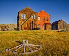 Old Bodie Hotel at Sunset (HavCanon.WillTravel) Tags: california sunset ghosttown bodie hdr wagonwheel historicbuilding fdrtools ca395 canon5dmkii