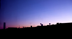 rowhomes & silo (they say you laughed when you heard my name) Tags: silhouette magichour rowhome