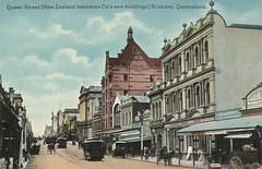 Queen Street in the heart of Brisbane, ca. 1906 (State Library of Queensland, Australia) Tags: brisbane queensland trams statelibraryofqueensland slq