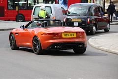 F-Type S V8 (kenjonbro) Tags: uk england london westminster spider trafalgarsquare convertible spyder jaguar cabrio charingcross v8 sw1 roadster 2013 ftype worldcars 5000cc kenjonbro canoneos5dmkiii canonzoomlensef70300mm1456isusm he11jfb ftypesv8