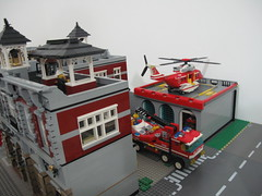 Moving Godwin's Hollow May 2014 (Godwins in Kuwait) Tags: city church lego farmersmarket cityhall farm modular policestation firedepartment stthomas moc lawfirm legocity mainstreeteast stewartavenue modularbuilding mainstreetwest godwinshollow lockridgefarms