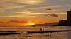 Walking on Water (jcc55883) Tags: ocean sunset sky silhouette clouds hawaii nikon waikiki oahu horizon pacificocean waikikibeach yabbadabbadoo d40 kuhiobeachpark nikond40