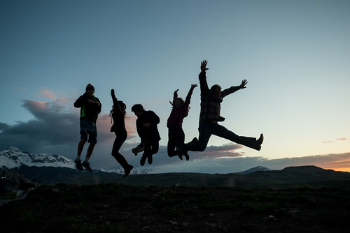 Sunset @ Mountainfilm - Happy Jump!