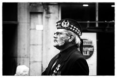 (roger g1) Tags: blackandwhite scotland parade aberdeen soldiers veterans