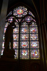 Notre Dame stained glass windows - Version 2 (David McSpadden) Tags: paris silhouette stainedglass notredamecathedral stmichelsheathshissword