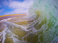 the sand suck up (chris kuga) Tags: ocean california beach bay sand surf waves wave newport hero gopro hero4